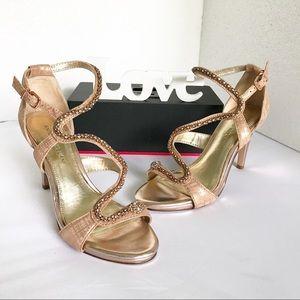 ANTONIO MELANI snake Metallic Embellished sandals